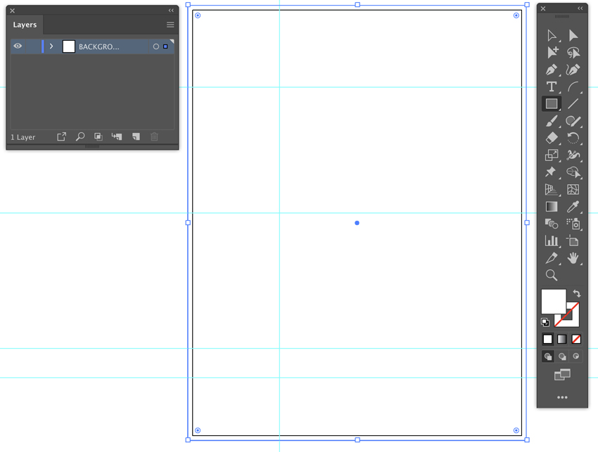 use smart guides open layers panel use rectangle tool for background