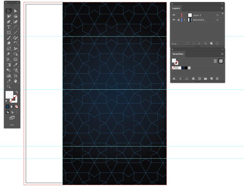 create pattern add layer lock background event flyer design