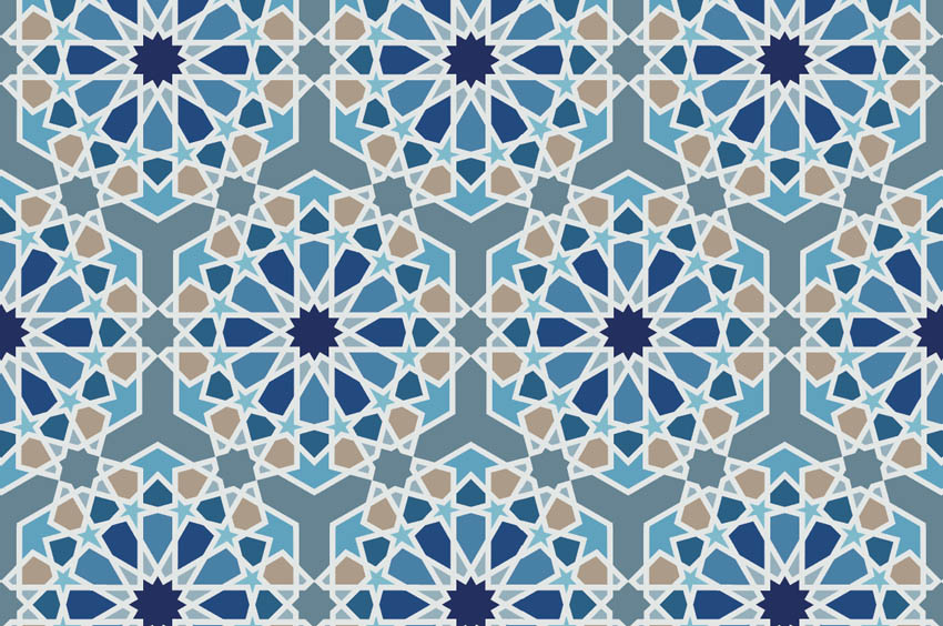 how to make arabic islamic pattern Illustrator swatch arabesque geometric islamic pattern by misschatz