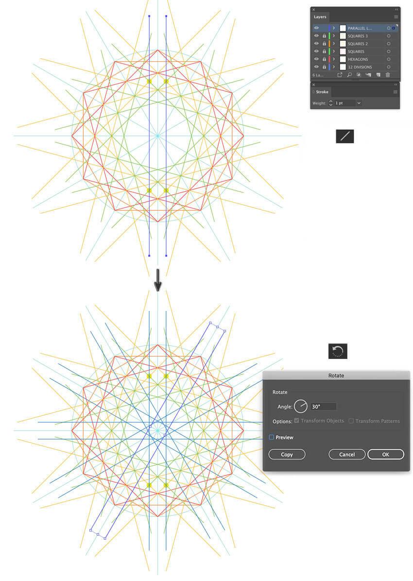Illustrator pattern how to create Arabic pattern