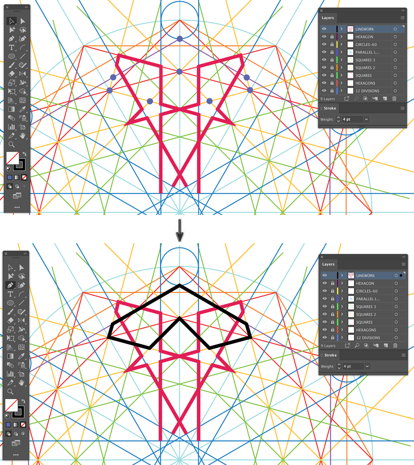 How to create pattern in Illustrator using pen tool