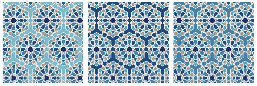 How to design Arabic islamic pattern swatches repeating pattern illustrator