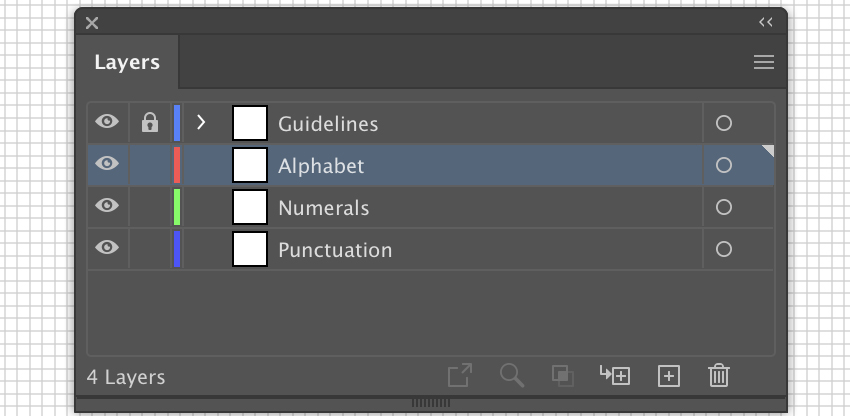 set up order layers in layer panel  create new layer and rename