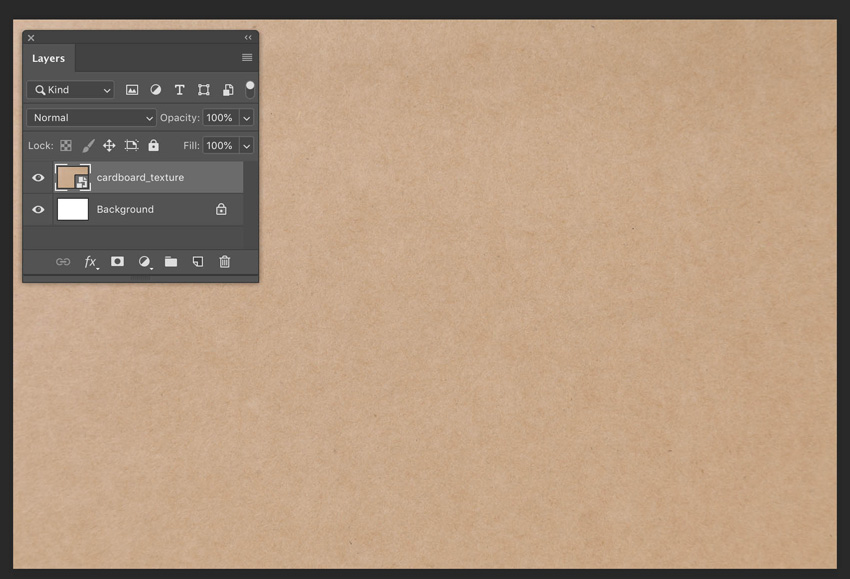 Drag Drop Cardboard Texture file onto Artboard