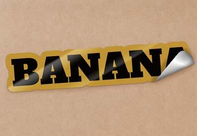 Image of Tut JUNE 2020 Banana Peel Text Effect by MissChatz PREV