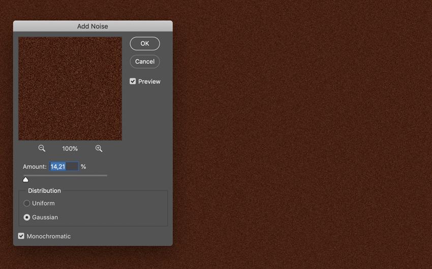 add noise filter to color artboard for grain effect monochromatic