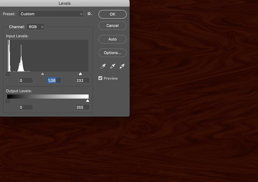 adjust image levels command L RGB