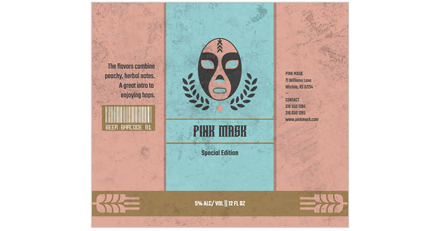 beer label generator wrestling mask