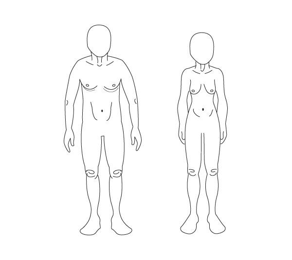 Dasar Dasar Anatomi Manusia Menggambar Usia Yang Berbeda