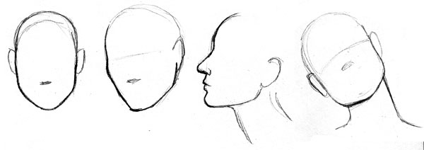 Study of Audrey Hepburns face contours