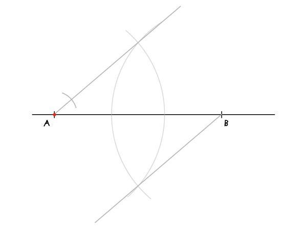 Dividing a segment step 4