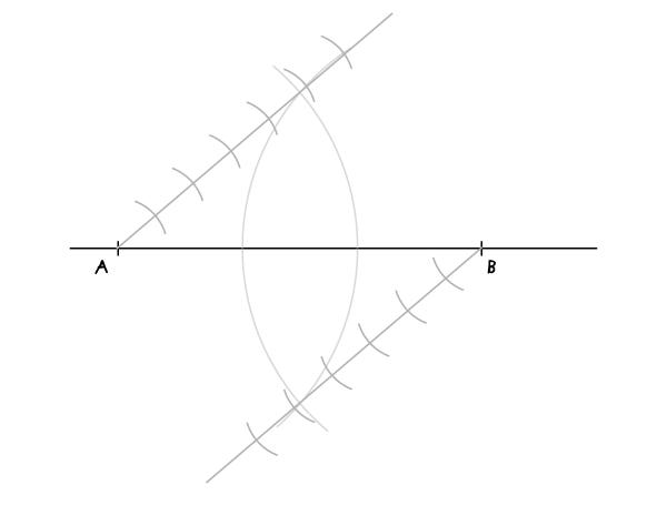 Dividing a segment step 5