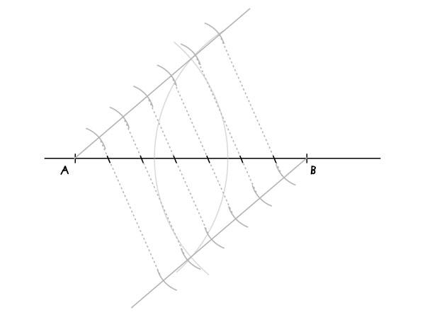 Dividing a segment step 6