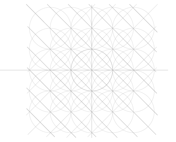 Five-Circle Grid step 9b