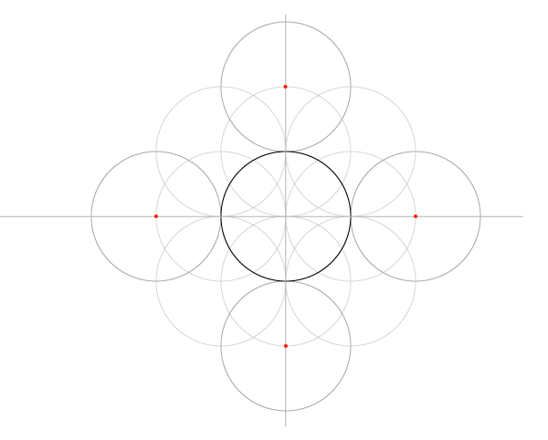 Five-Circle Grid step 6