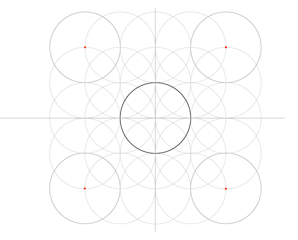 Five-Circle Grid step 8
