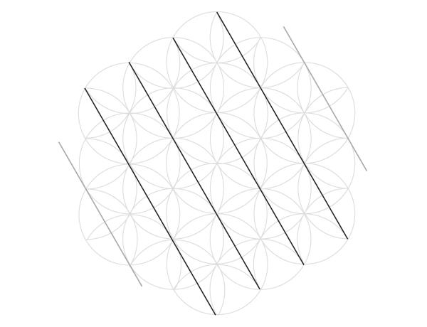 Grid of hexagrams step 1