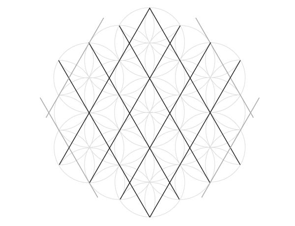 Grid of hexagrams step 2