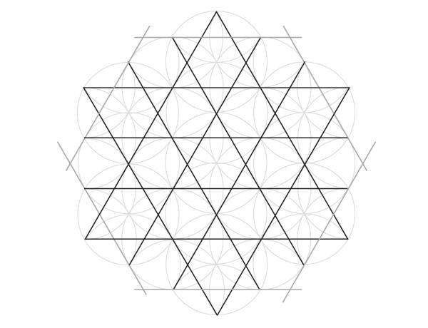 Grid of hexagrams step 3