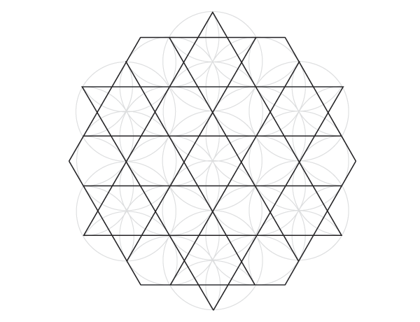 Grid of hexagrams finished