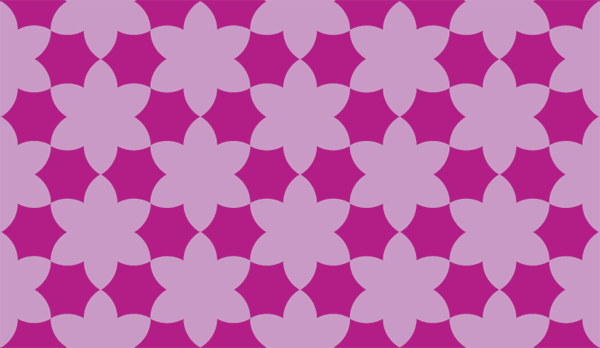 Curved hexagrams pattern