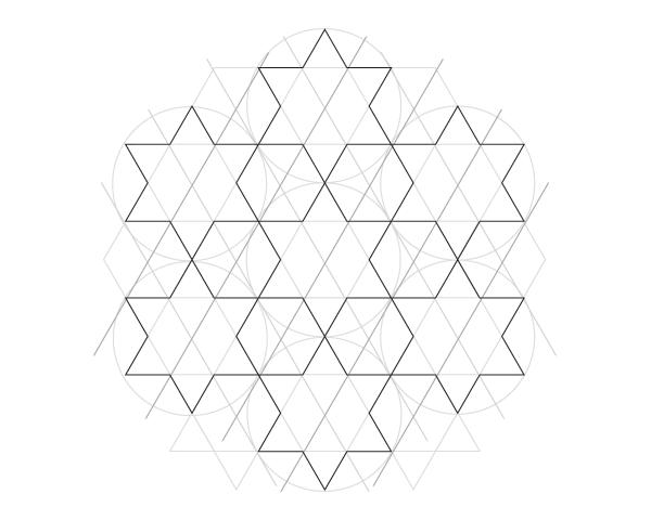 Dodecagram pattern step 2b