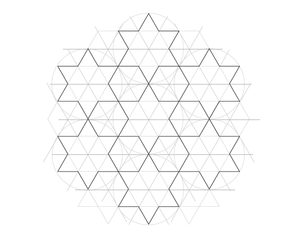 Dodecagram pattern step 2c