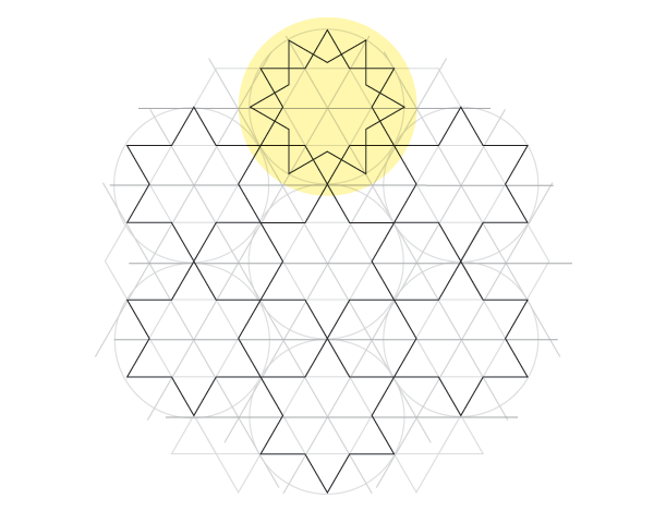 Dodecagram pattern step 4