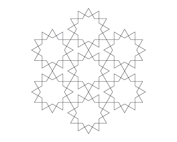 Dodecagram pattern step 5
