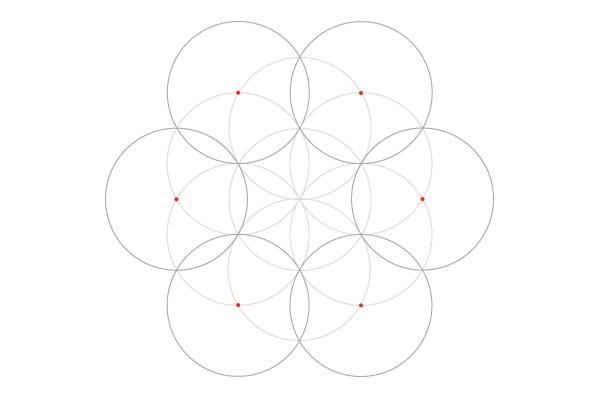 Seven-circle grid step 4