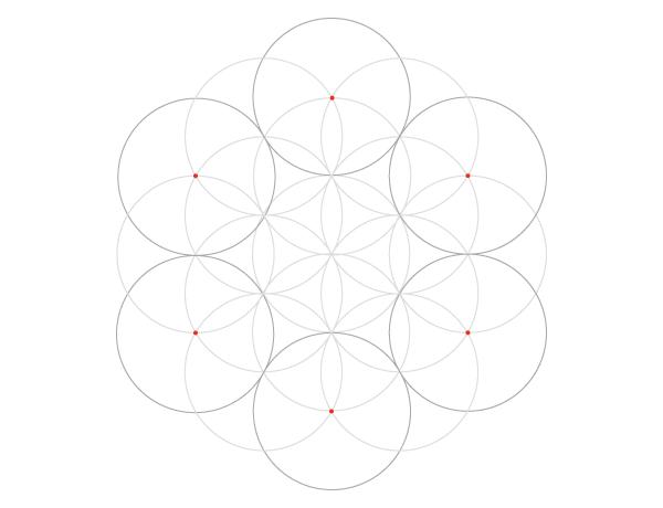 Seven-circle grid step 5