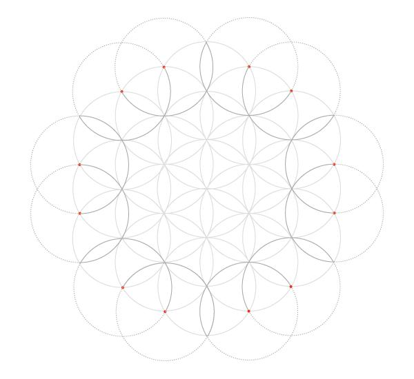 Seven-circle grid step 6