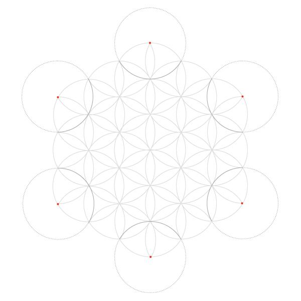 Seven-circle grid step 7