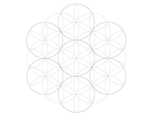 Seven-circle grid finished