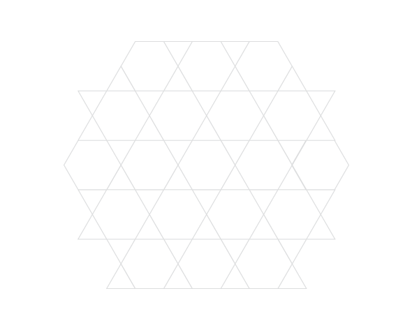 Grid of equilateral triangles step 1