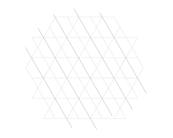 Grid of equilateral triangles step 2