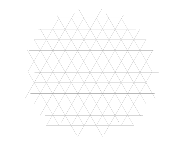 Grid of equilateral triangles step 4