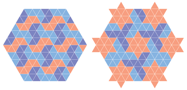 Patterns from grid of equilateral triangles