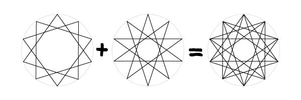 Decagram grid