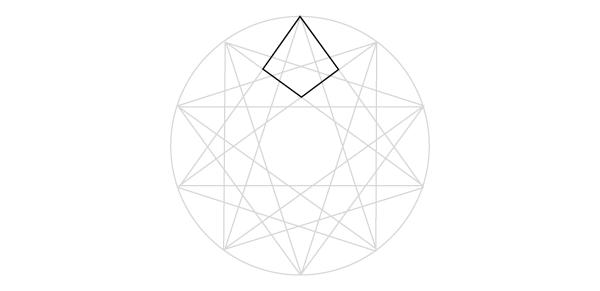 Interlaced star step 1