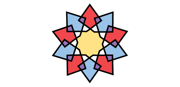 Interlaced star coloured