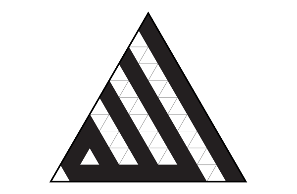 Fitting a word in the triangle