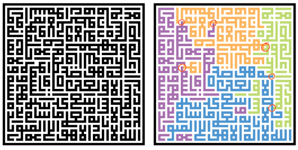 Creative arabic calligraphy square kufic