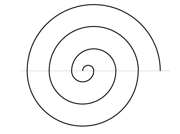 Regular spiral finished