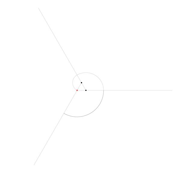 Regular spiral on three points step 4