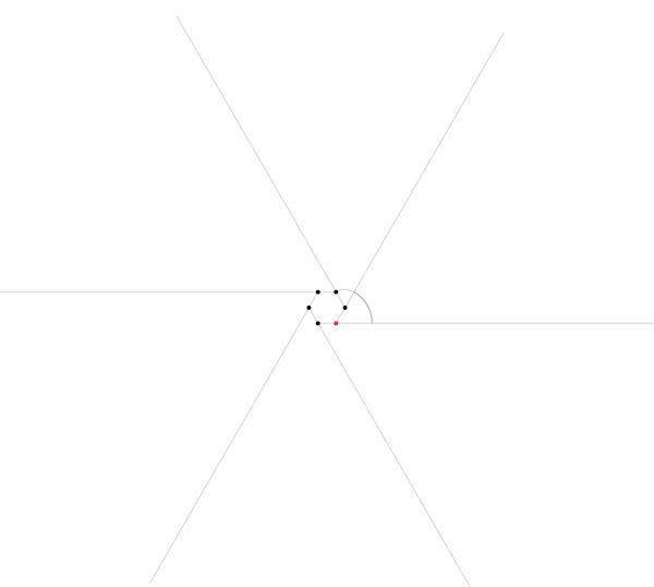 Regular spiral on six points step 2