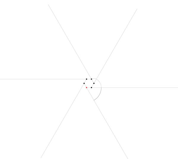 Regular spiral on six points step 3