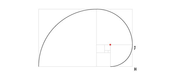 Golden spiral step 12