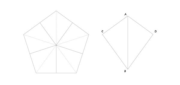 Circle in a kite step 1