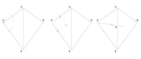 Circle in a kite step 2
